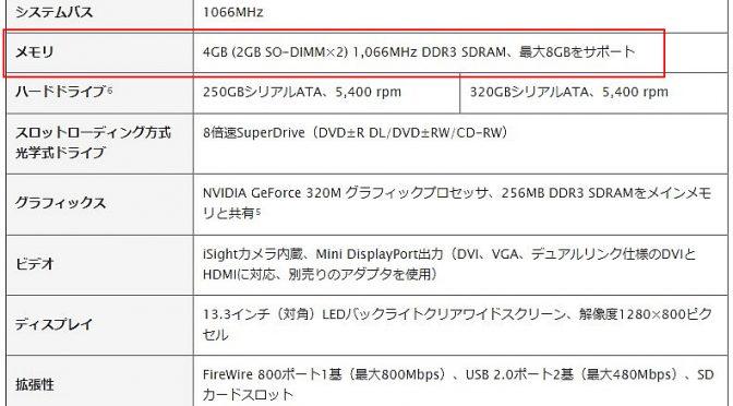 MacBook Pro Mid 2010のHDDをSSDに換装してみた